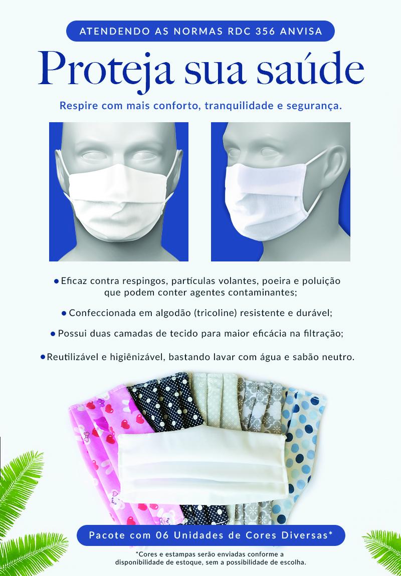 Máscara Lavável de Tecido Duplo SalvaPé